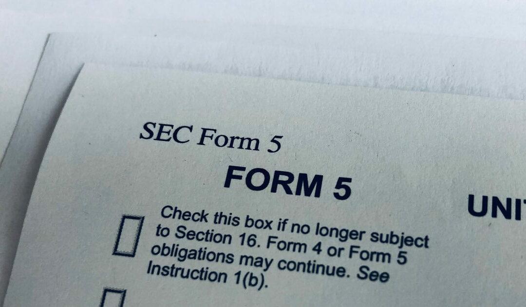 Form 5: for FYE 09/30/21 due November 15, 2021