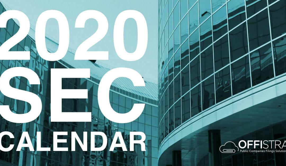 2020 SEC Filing Deadlines